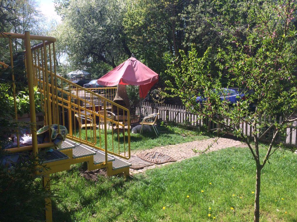Sitzecke Außenbereich Appartement Vermietung Teltow