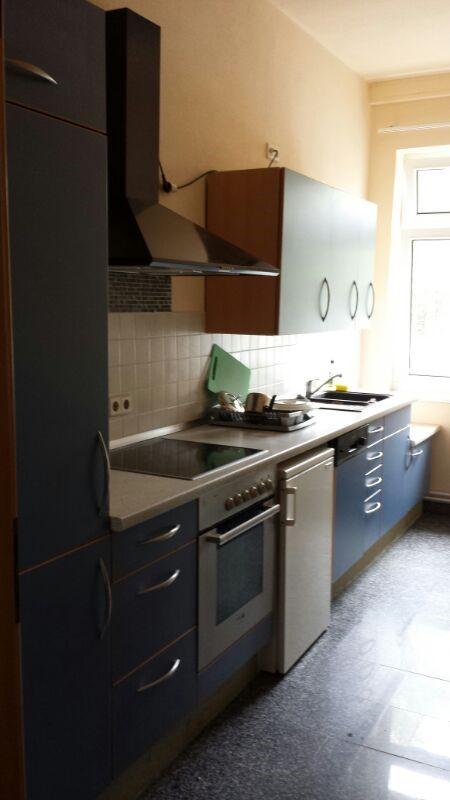 Beispiel Küche möbliertes Zimmer der Zimmervermietung Teltow